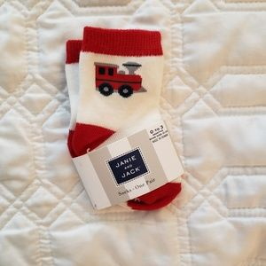 Janie and Jack, train socks NWT